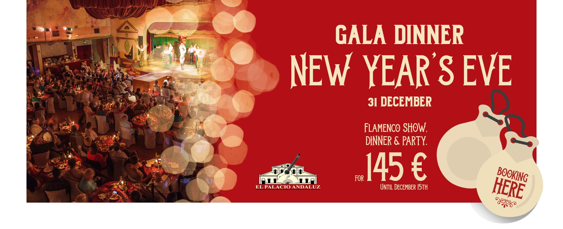 Gala Dinner New Year's Eve in Seville