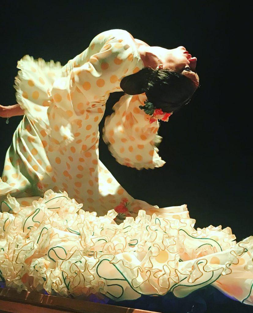 La bailaora de flamenco Macarena Cortés en el tablao El Palacio Andaluz