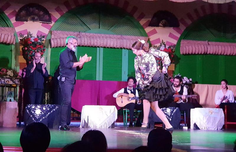 Farina is a flamenco singer in seville