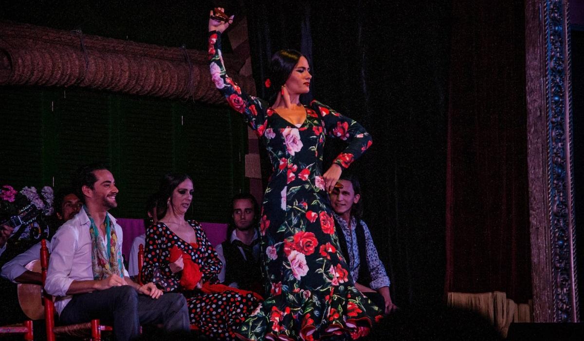 Spanish Flamenco Dancer with castanets