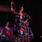 Bailaora de flamenco con castañuelas