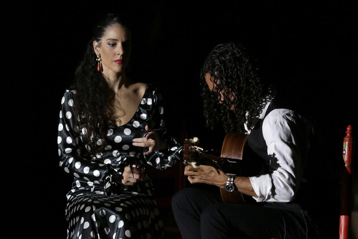 The flamenco guitar touch