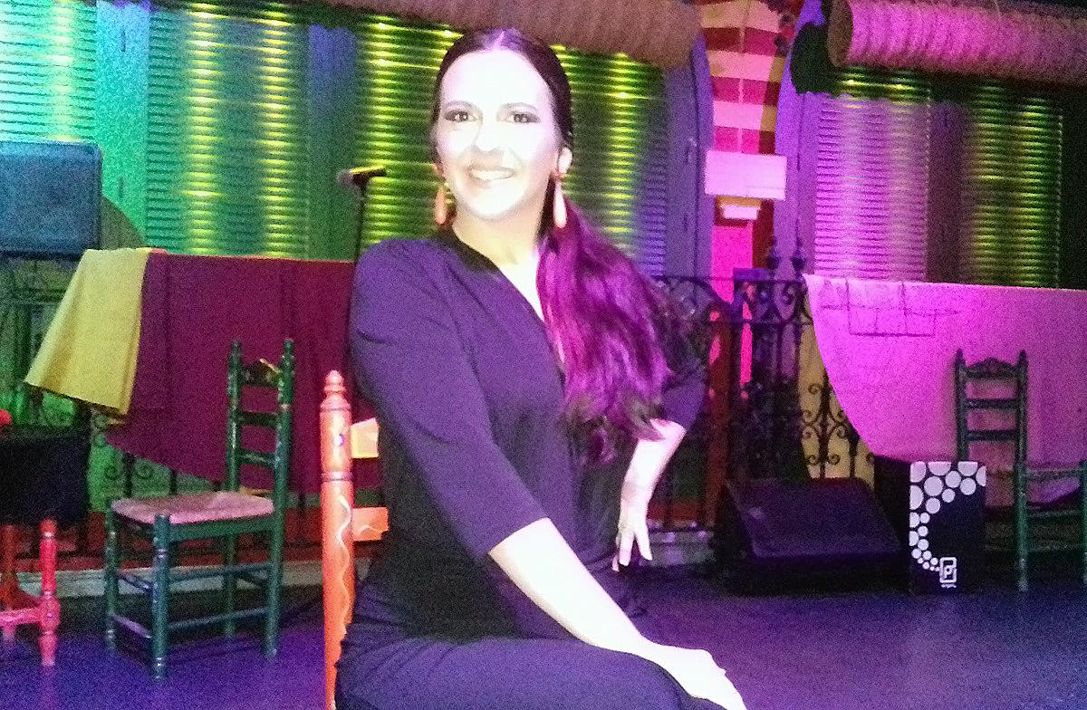 Silvia Reina a flamenco singer in Seville