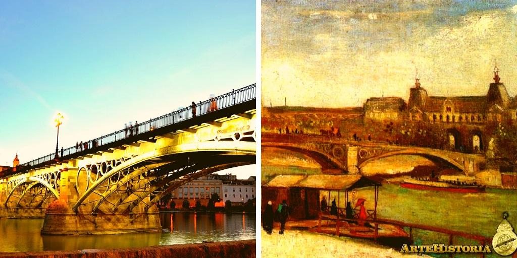El puente de triana de sevilla se construyó en el siglo XIX
