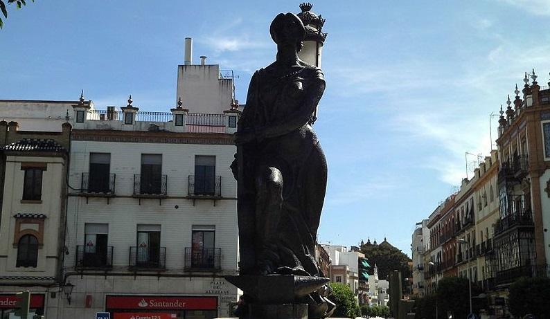 estatua homenaje arte flamenco